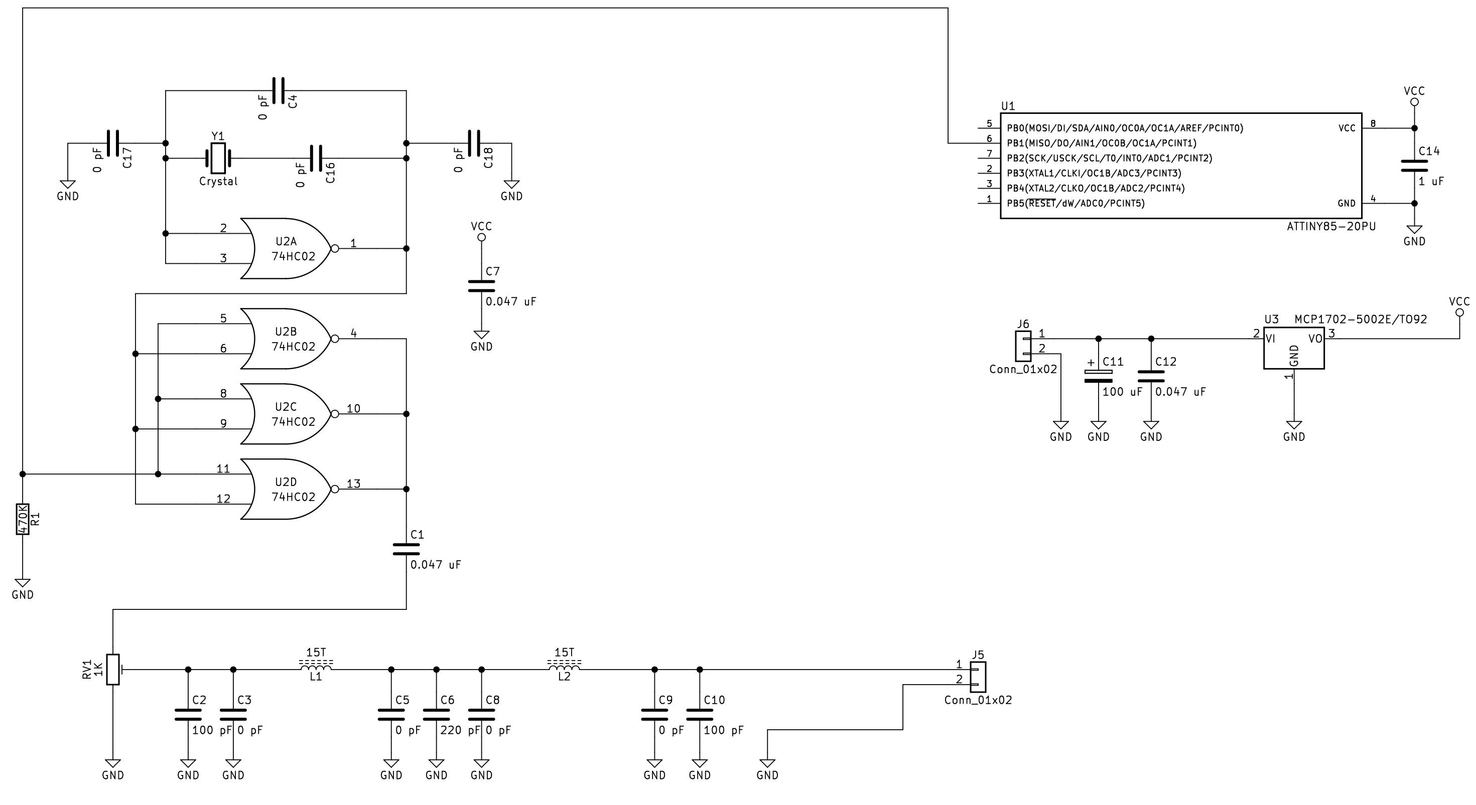 22 Meter Band Part 15 Cw Beacon Kit Volt Tracking Transmitter Circuit Details